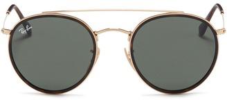 'Round Double Bridge' metal sunglasses