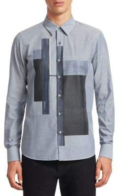 Emporio Armani Color-Block Cotton Shirt