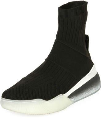 Stella McCartney Stretch-Sock 45mm Platform Sneakers