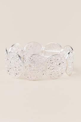francesca's Mariam Filigree Stretch Bracelet In Silver - Silver