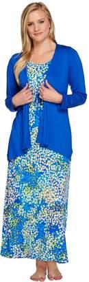 Carole Hochman Petite Abstract Hydrangea Rayon Spandex Lounge Dress Set