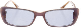 Judith Leiber Narrow Jewel-Embellished Sunglasses $65 thestylecure.com