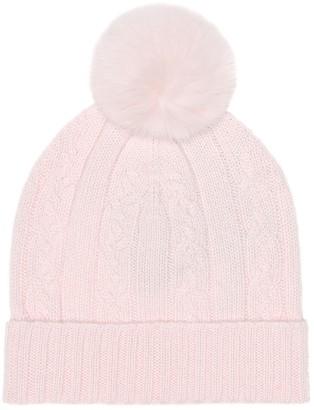 Loro Piana Kids Fur-trimmed cashmere hat