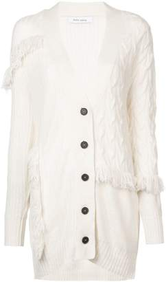 Prabal Gurung fringed oversized cardigan