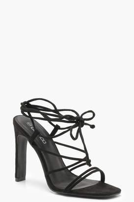 boohoo Strappy Wrap Heel Sandals