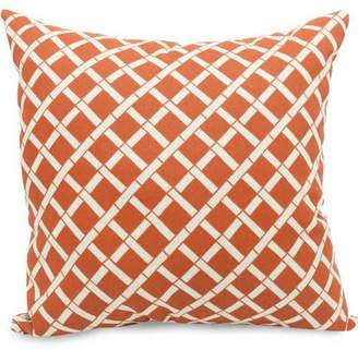 """Majestic Home Goods Bamboo Large Decorative Pillow, 20"""" x 20"""", Indoor/Outdoor"""