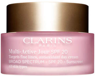 Clarins Multi-Active Day Cream Broad Spectrum SPF 20 for All Skin Types, 1.7 oz.