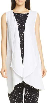 Eileen Fisher Organic Cotton Long Vest