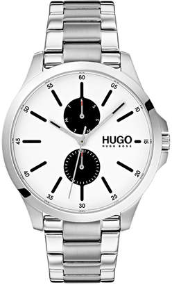 HUGO BOSS HUGO Men's #Jump Stainless Steel Bracelet Watch 41mm