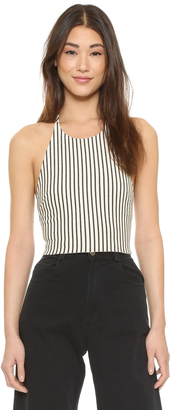 alice + olivia Jaymee Cropped Halter Top $188 thestylecure.com