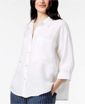 Eileen Fisher Tencel Blend Relaxed 3/4-Sleeve Shirt, Regular & Petite