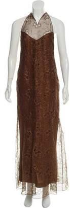 Chanel Metallic Halter Dress