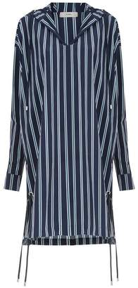 Egrey hooded striped top