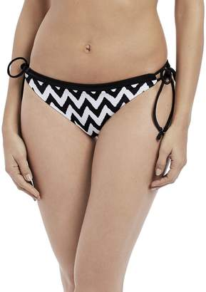 Freya Making Waves Italini Side Tie Bikini Bottom, M, / White
