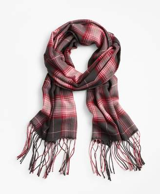 Brooks Brothers Plaid Wool Scarf
