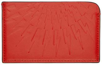 Neil Barrett Red Thunderbolt Card Holder