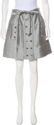 Andrew Gn Silk Mini Skirt