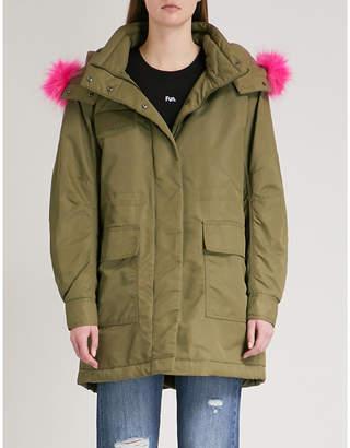 Mo&Co. Faux fur-trim padded coat