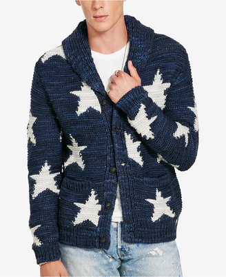 Denim & Supply Ralph Lauren Men's Intarsia-Knit Shawl Cardigan $298 thestylecure.com