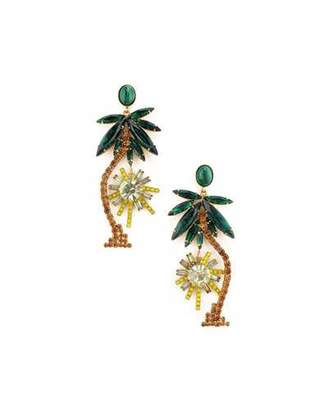 Elizabeth Cole Pamela Palm Tree Dangle Earrings
