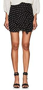 FiveSeventyFive Women's Star-Print Crepe Miniskirt - Black