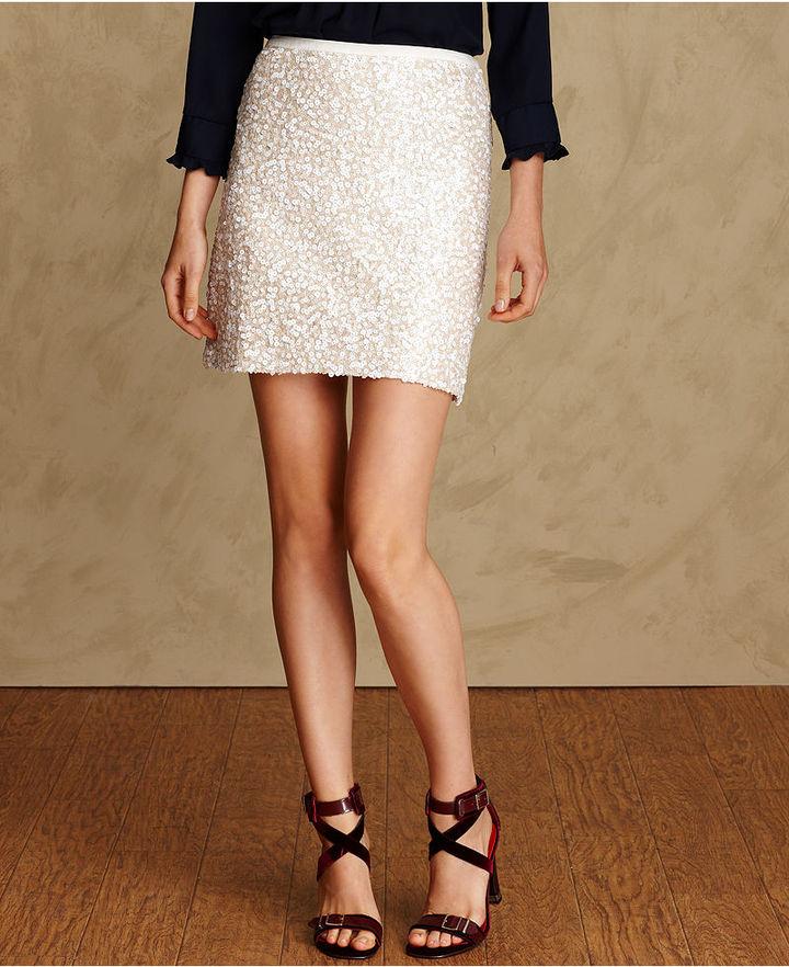 Tommy Hilfiger Skirt, Pencil Sequin