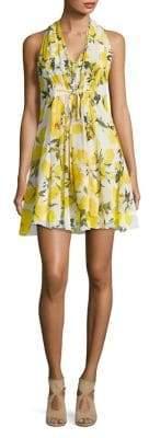 Molly Bracken Floral-Print Pleated Mini Dress