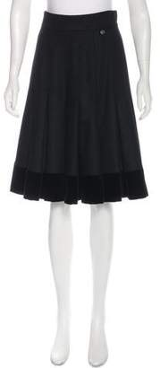 Chanel Paris-Dallas Wool Pleated Skirt