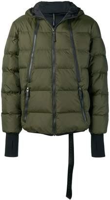 Blackbarrett quilted hooded jacket