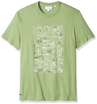 Lacoste Men's Short Sleeve Graphic Animation Jersey Print Reg Fit T-Shirt