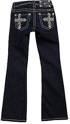 Miss Me Girls 7-16 Leather Tribal Cross Bootcut Jeans