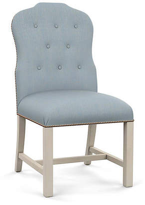Bunny Williams Home Jack Side Chair - Blue Diamond Linen