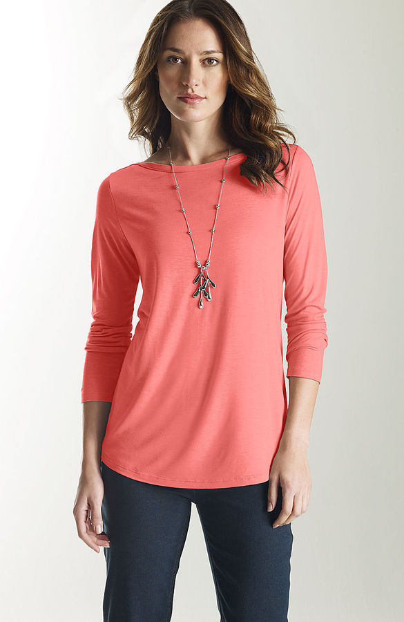 J. Jill Boat-neck long-sleeve tee