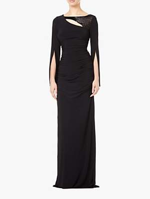 Adrianna Papell Embellished Jersey Maxi Dress, Black