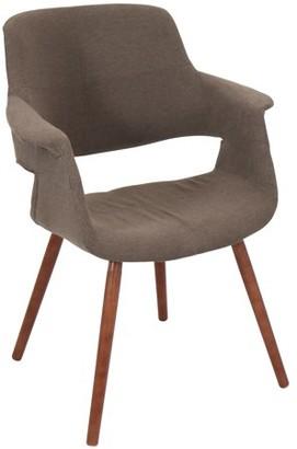 Lumisource Vintage Flair Mid-Century Modern Chair in Medium Brown