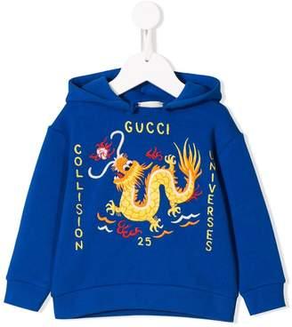 Dragon Optical Gucci Kids blue hoodie