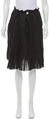 Hache A-Line Woven Skirt