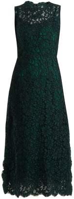 Dolce & Gabbana Cordonetto-lace scallop-edged dress