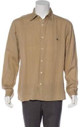 Etro Linen Button-Up Shirt
