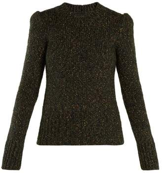 Isabel Marant - Alika Round Neck Sweater - Womens - Dark Green