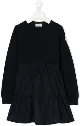 Moncler bow front midi dress