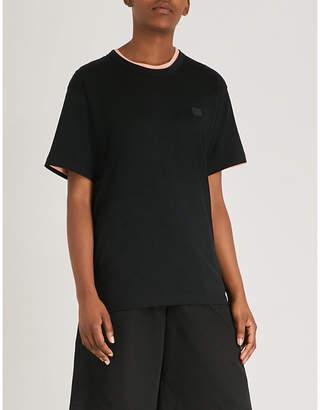Acne Studios Nash Face oversized cotton-jersey T-shirt