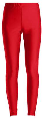 Gucci Logo Panel Leggings - Womens - Red