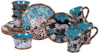 Certified International Exotic Jungle 16-Pc. Dinnerware Set