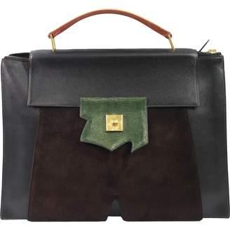 Hermes Vintage Black Leather Bag