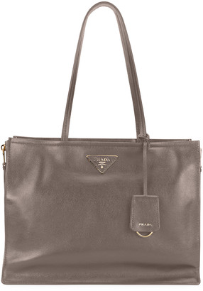 Prada Glace Calf Leather Tote Bag