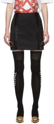 Versace Black Mini Bondage Miniskirt