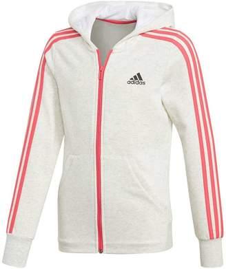 adidas Girls 3 Stripes Hoodie