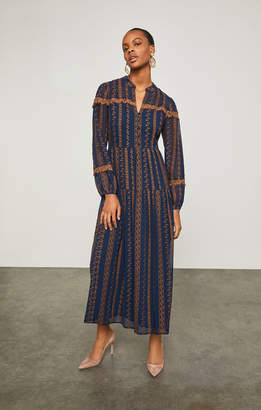 BCBGMAXAZRIA Canyon Floral Embroidered Dress