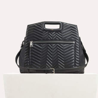 Maje Quilted leather shoulder bag